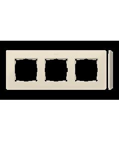 Simon 82 Detail ORIGINAL Ramka 3-krotna kremowy  8200630-031