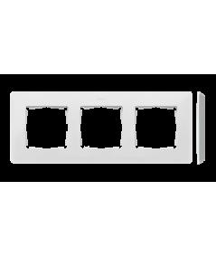 Simon 82 Detail ORIGINAL Ramka 3-krotna aluminium biały  8200630-230