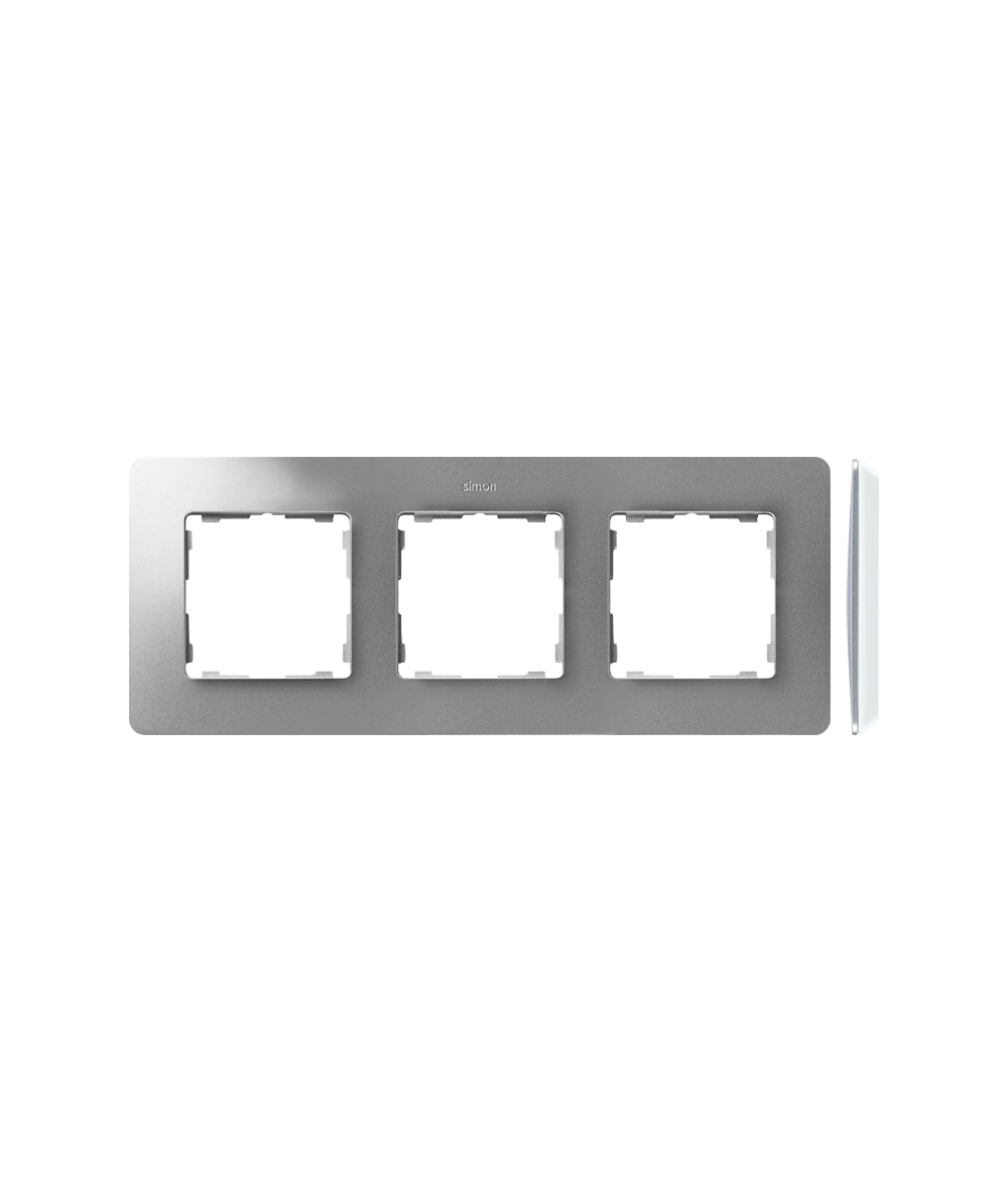 Simon 82 Detail ORIGINAL Ramka 3-krotna aluminium biały  8200630-093