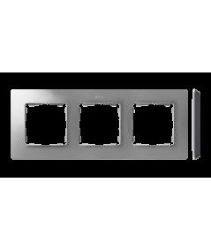 Simon 82 Detail ORIGINAL Ramka 3-krotna aluminium czarny  8200630-293
