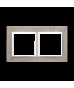 Simon 54 Nature- Ramka 2-krotna betonowa Al betone