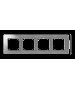 Simon 82 Detail ORIGINAL Ramka 4-krotna aluminium czarny  8200640-293