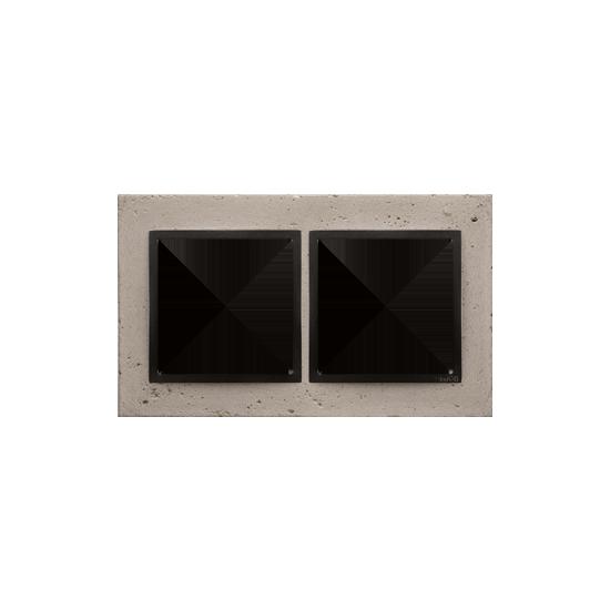 Simon 54 Nature- Ramka 2-krotna betonowa Funda mente