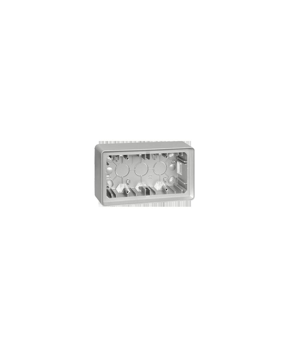 Simon 82 Detail ORIGINAL Puszka natynkowa 2-krotna aluminium  8200760-093