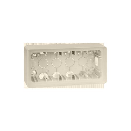 Simon 82 Detail ORIGINAL Puszka natynkowa 3-krotna kremowy  8200770-031