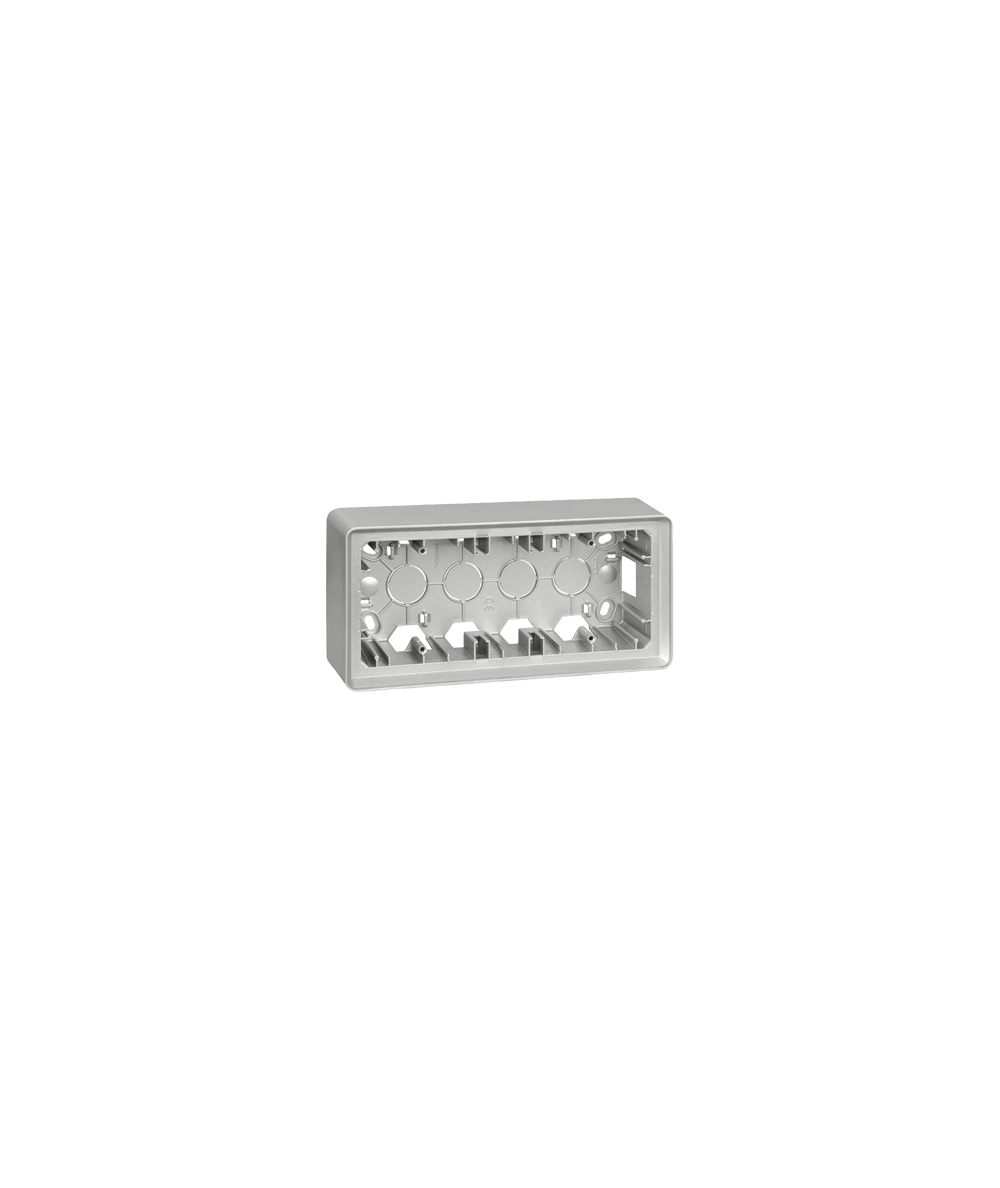 Simon 82 Detail ORIGINAL Puszka natynkowa 3-krotna aluminium  8200770-093