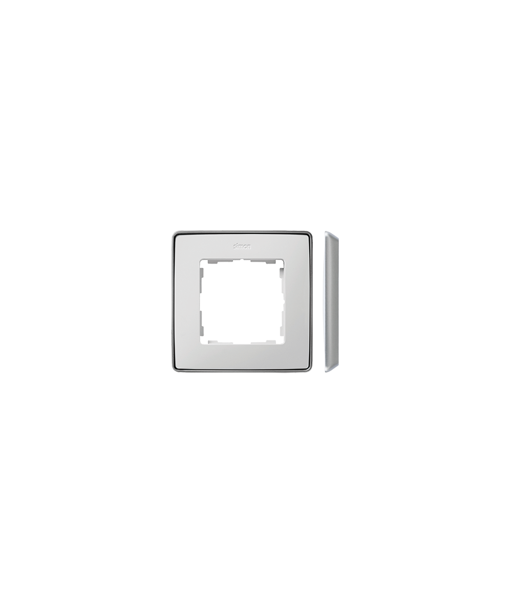 Simon 82 Detail SELECT Ramka 1-krotna aluminium biały  8201610-243