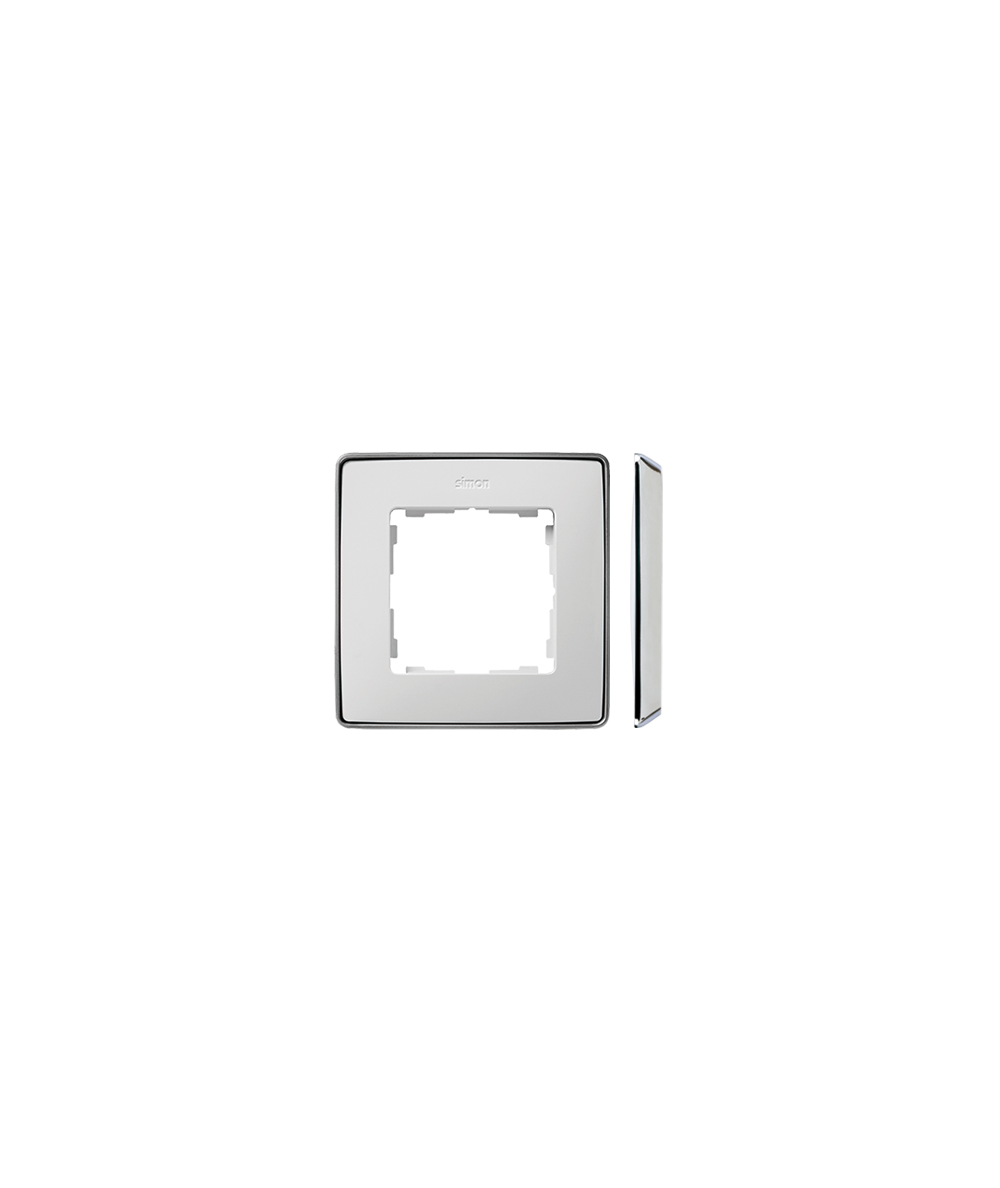Simon 82 Detail SELECT Ramka 1-krotna biały chrom  8201610-244