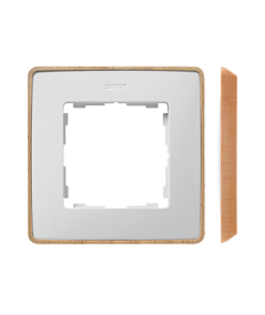 Simon 82 Detail SELECT Ramka 1-krotna biały drewno  8201610-270