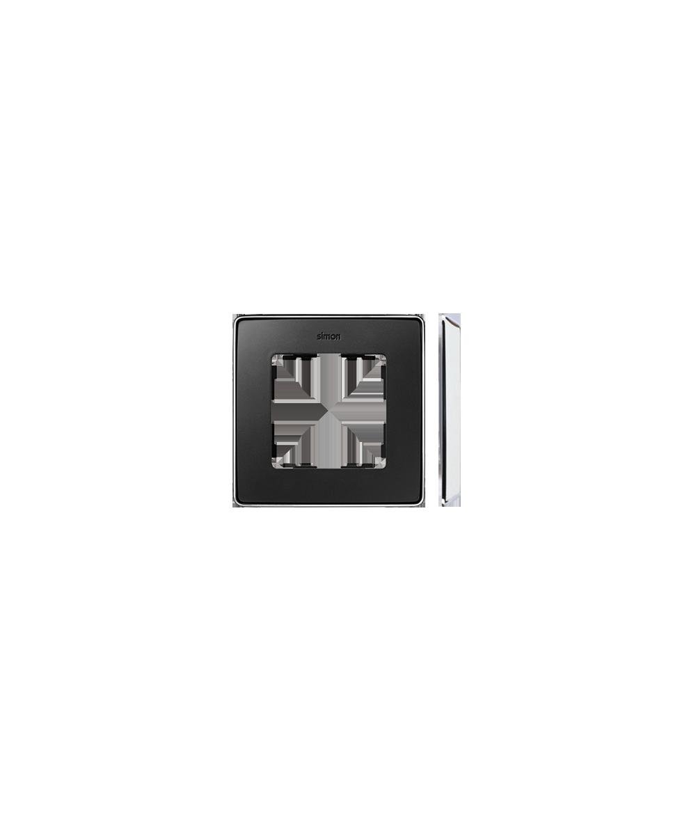 Simon 82 Detail SELECT Ramka 1-krotna chrom grafit  8201610-241