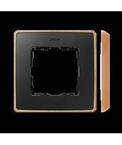 Simon 82 Detail SELECT Ramka 1-krotna czarny drewno  8201610-271