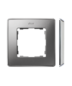 Simon 82 Detail SELECT Ramka 1-krotna aluminium zimne chrom  8201610-093