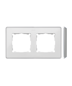 Simon 82 Detail SELECT Ramka 2-krotna aluminium biały  8201620-243
