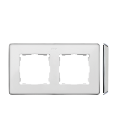 Simon 82 Detail SELECT Ramka 2-krotna biały chrom  8201620-244
