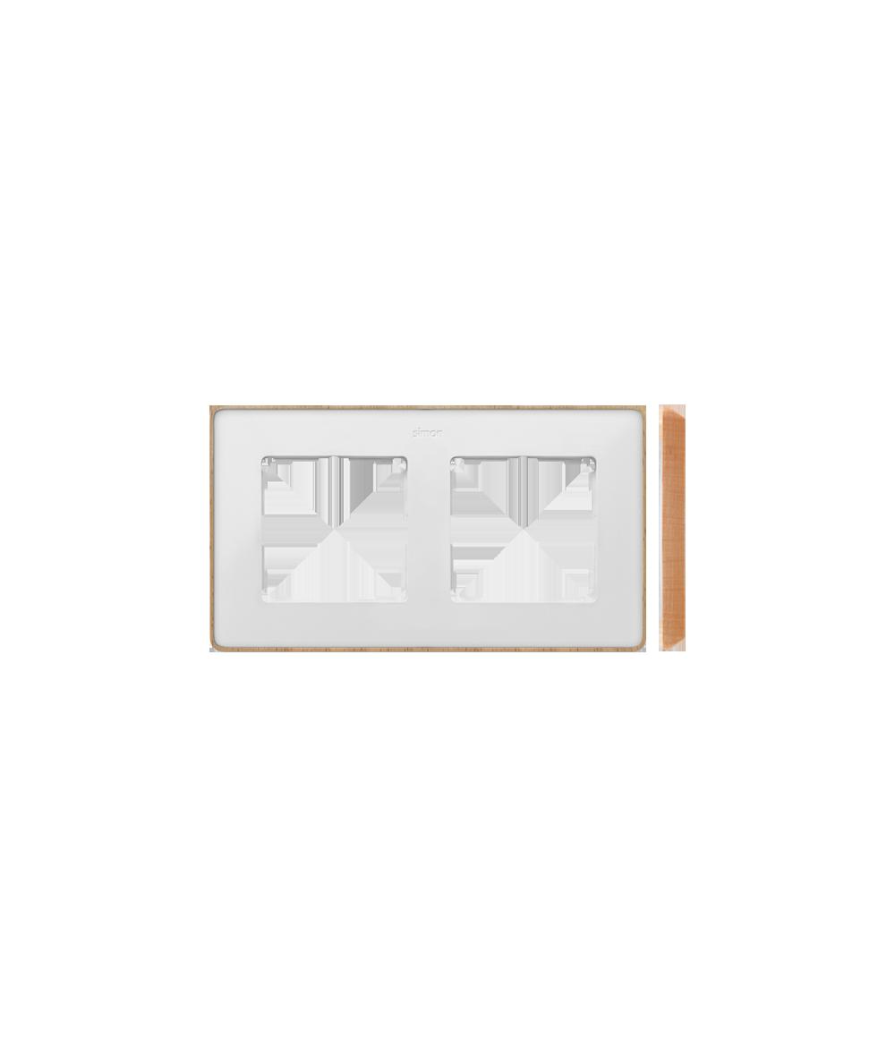 Simon 82 Detail SELECT Ramka 2-krotna biały drewno  8201620-270