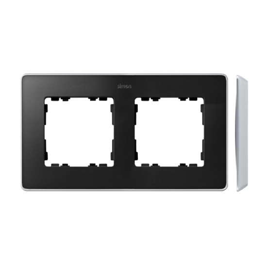 Simon 82 Detail SELECT Ramka 2-krotna aluminium grafit  8201620-240