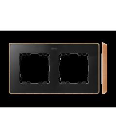 Simon 82 Detail SELECT Ramka 2-krotna czarny drewno  8201620-271