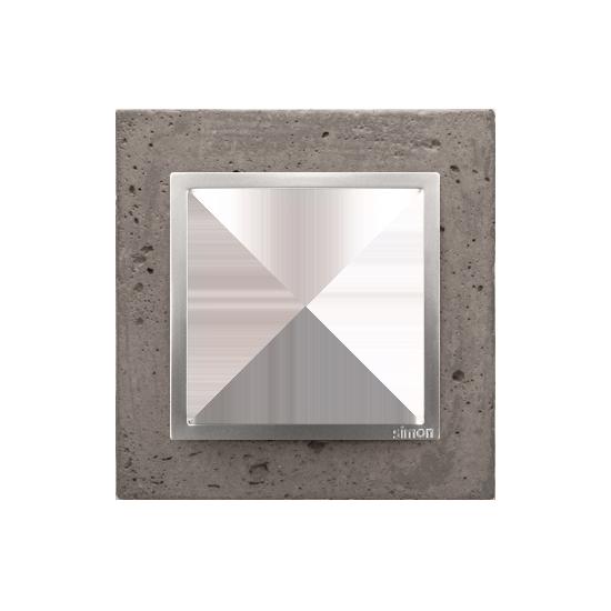 Simon 54 Nature- Ramka 1-krotna betonowa Mokra robota