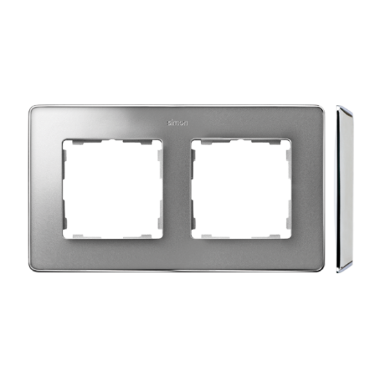 Simon 82 Detail SELECT Ramka 2-krotna aluminium zimne chrom  8201620-093