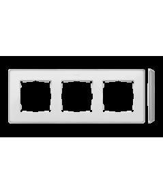 Simon 82 Detail SELECT Ramka 3-krotna aluminium biały  8201630-243