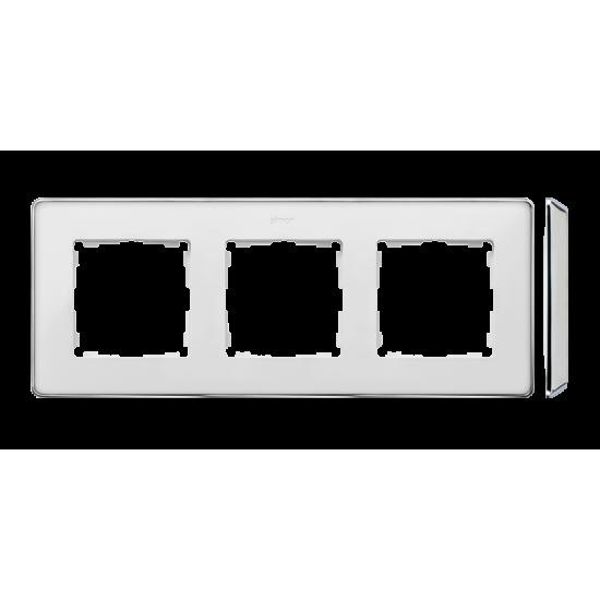 Simon 82 Detail SELECT Ramka 3-krotna biały chrom  8201630-244