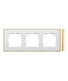 Simon 82 Detail SELECT Ramka 3-krotna biały złoty  8201630-245