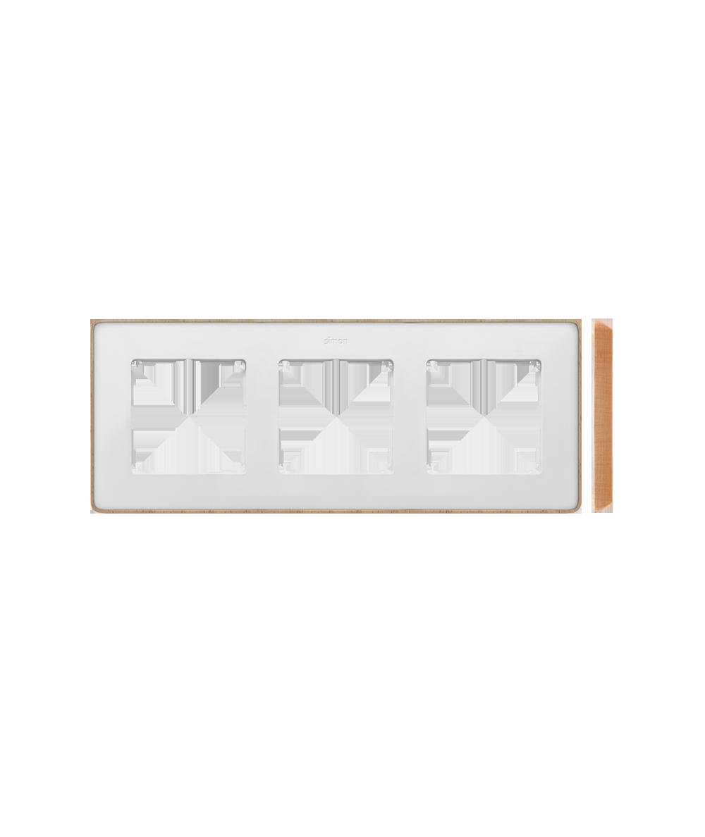 Simon 82 Detail SELECT Ramka 3-krotna biały drewno  8201630-270