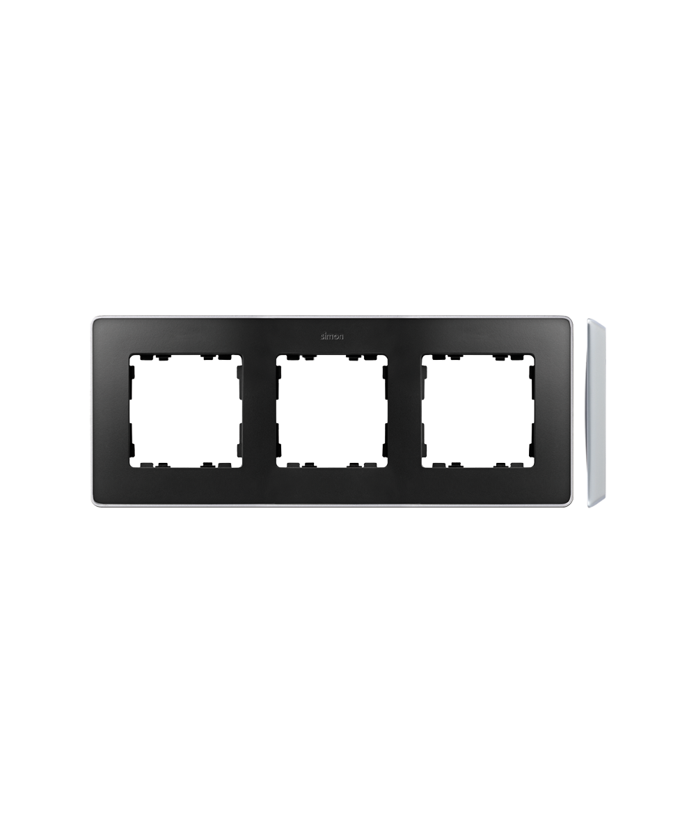 Simon 82 Detail SELECT Ramka 3-krotna aluminium grafit  8201630-240