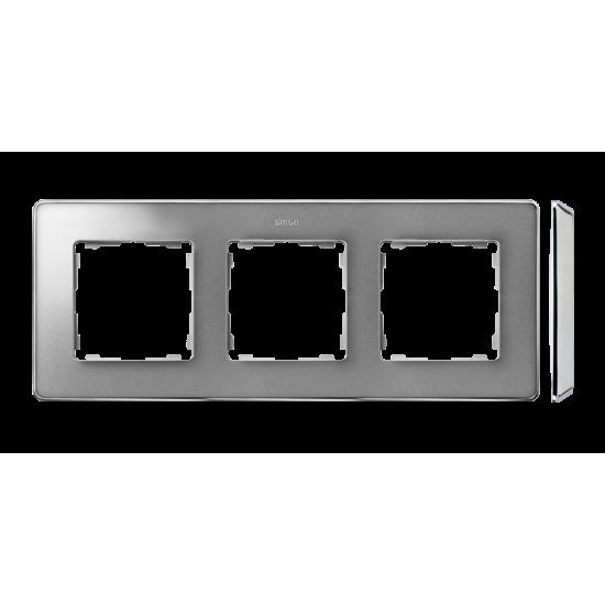 Simon 82 Detail SELECT Ramka 3-krotna aluminium zimne chrom  8201630-093