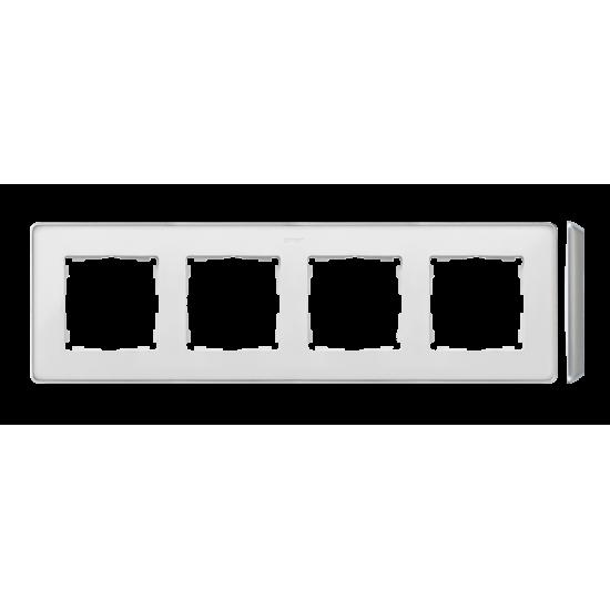 Simon 82 Detail SELECT Ramka 4-krotna aluminium biały  8201640-243