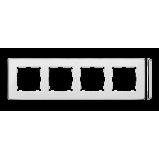 Simon 82 Detail SELECT Ramka 4-krotna biały chrom  8201640-244