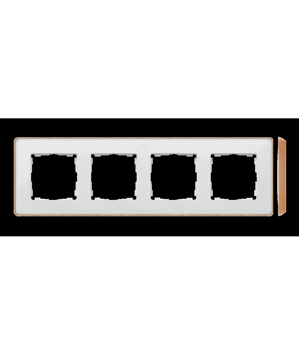 Simon 82 Detail SELECT Ramka 4-krotna biały drewno  8201640-270