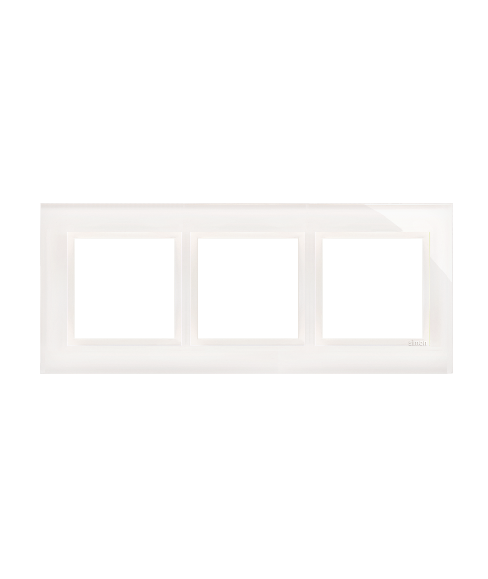 Simon 54 Nature- Ramka 3- krotna szklana biała perła
