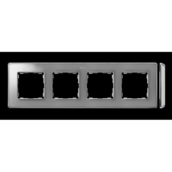 Simon 82 Detail SELECT Ramka 4-krotna aluminium zimne chrom  8201640-093