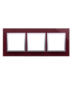 Simon 54 Nature- Ramka 3- krotna szklana kusząca śliwka