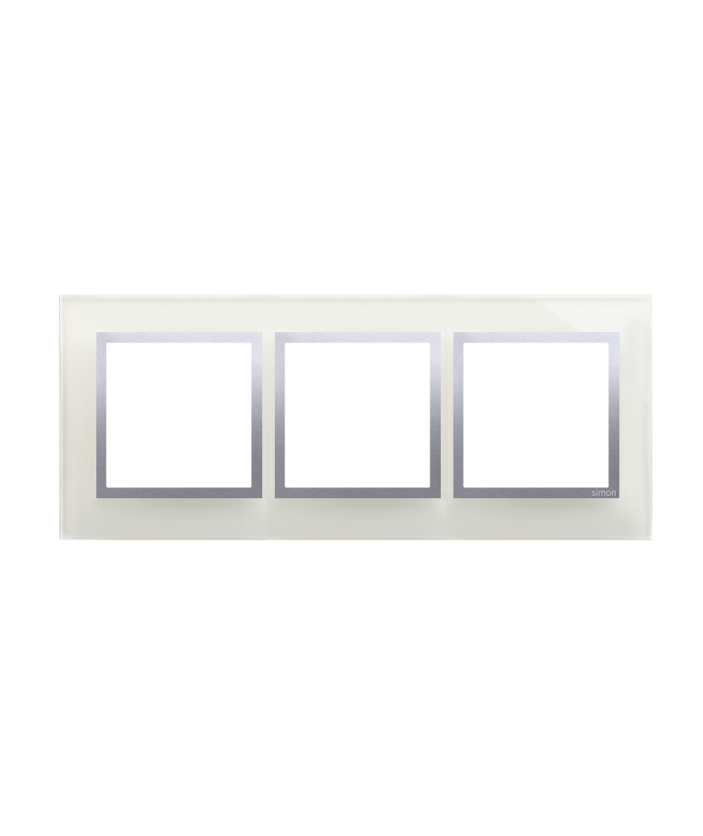 Simon 54 Nature- Ramka 3- krotna szklana srebrna mgła