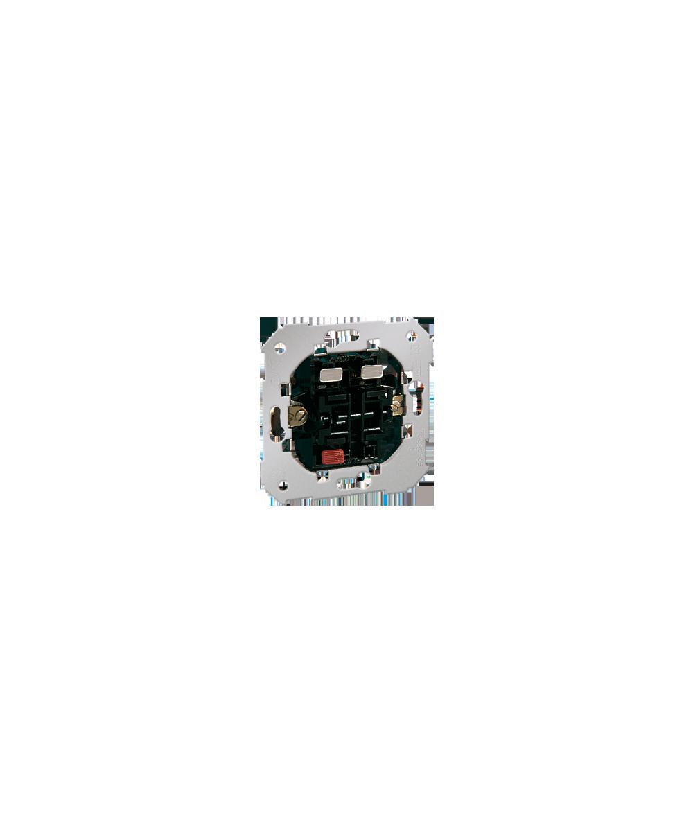 Simon 82 Przycisk podwójny zwierny. Dwuobwodowy: 2 wejścia, 2 wyjścia. 10AX  75396-39
