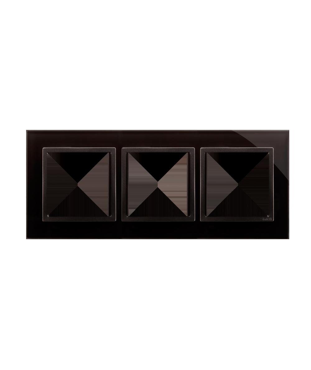 Simon 54 Nature- Ramka 3- krotna szklana zastygła lawa