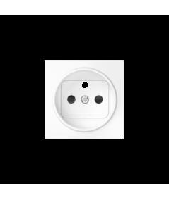 Simon 82 Pokrywa do gniazda wtyczkowego pojedynczego z uziemieniem biały  82068-30