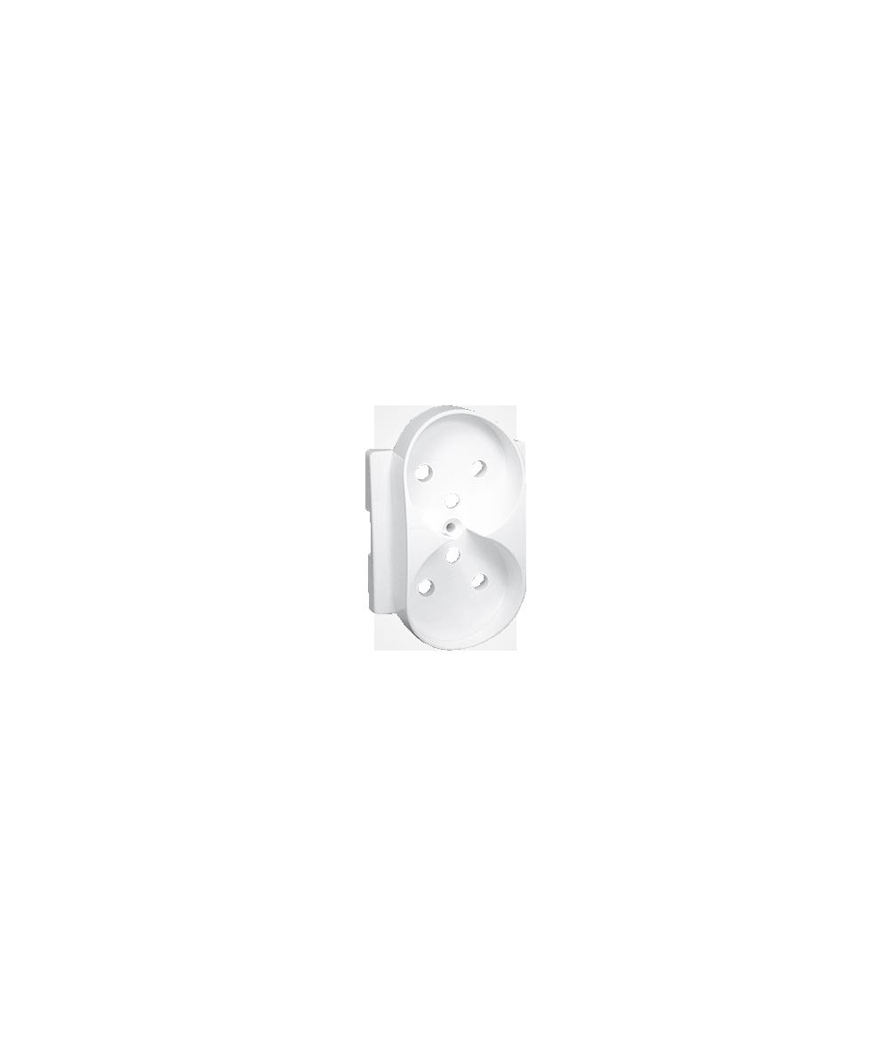 Simon 82 Pokrywa do gniazda wtyczkowego podwójnego z uziemieniem biały  82068PDZ-30