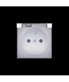 Simon 82 Pokrywa do gniazda wtyczkowego z uziemieniem - do wersji IP44- klapka w kolorze transparentnym biały  82068KD-30