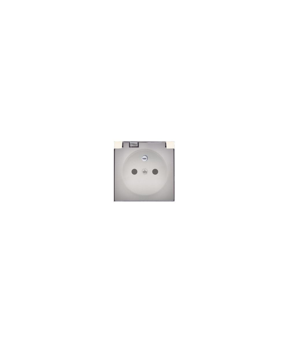Simon 82 Pokrywa do gniazda wtyczkowego z uziemieniem - do wersji IP44- klapka w kolorze transparentnym beżowy  82068KD-31