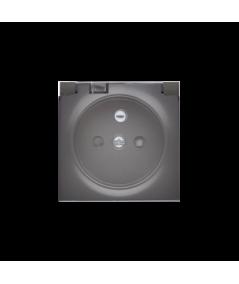 Simon 82 Pokrywa do gniazda wtyczkowego z uziemieniem - do wersji IP44- klapka w kolorze transparentnym grafit  82068KD-38