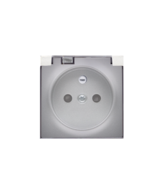 Simon 82 Pokrywa do gniazda wtyczkowego z uziemieniem - do wersji IP44- klapka w kolorze transparentnym aluminium  82068KD-93