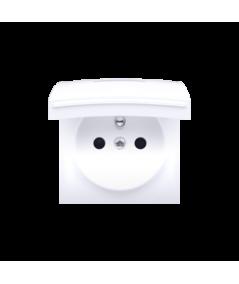 Simon 82 Pokrywa do gniazda wtyczkowego z uziemieniem - do wersji IP44- klapka w kolorze pokrywy biały  82068K-30