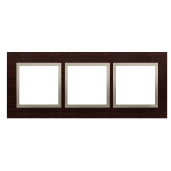 Simon 54 Nature- Ramka 3- krotna drewniana złote wenge