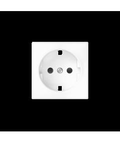 Simon 82 Pokrywa do gniazda wtyczkowego pojedynczego z uziemieniem typu Schuko biały  82041-30