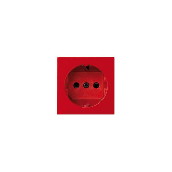 Simon 82 Pokrywa do gniazda wtyczkowego pojedynczego z uziemieniem typu Schuko czerwony  82041-37