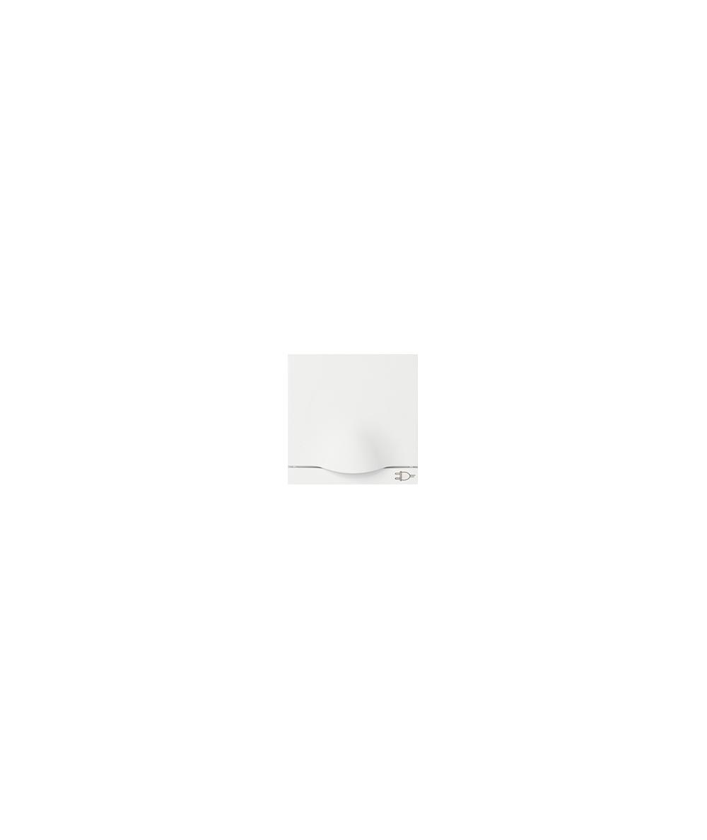 Simon 82 Pokrywa z klapką do gniazda wtyczkowego Schuko biały  82090-30