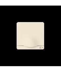 Simon 82 Pokrywa z klapką do gniazda wtyczkowego Schuko beżowy  82090-31